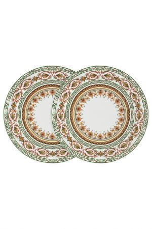 Набор из 2-х обеденных тарелок Colombo. Цвет: зеленый, коричневый