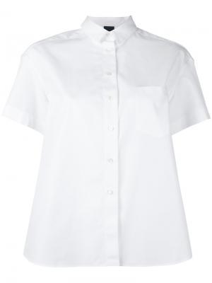 Классическая рубашка с короткими рукавами Aspesi. Цвет: белый