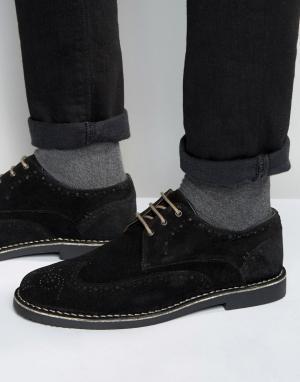 Dead Vintage Черные замшевые броги. Цвет: черный