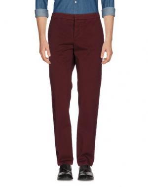 Повседневные брюки BAND OF OUTSIDERS. Цвет: красно-коричневый