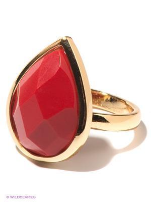 Кольцо Infiniti. Цвет: красный, золотистый