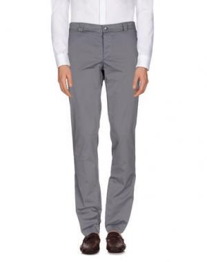 Повседневные брюки YOON. Цвет: серый