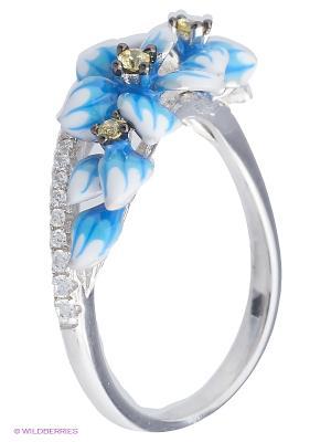 Кольцо BALEX. Цвет: белый, голубой, серебристый