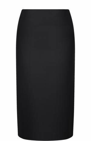 Однотонная юбка-карандаш Marni. Цвет: черный
