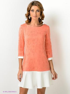 Платье Xarizmas. Цвет: персиковый, белый