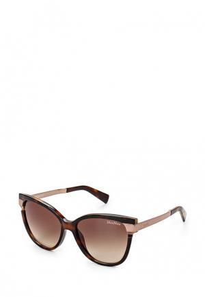 Очки солнцезащитные Max Mara. Цвет: коричневый