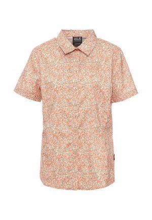 Рубашка Jack Wolfskin. Цвет: оранжевый