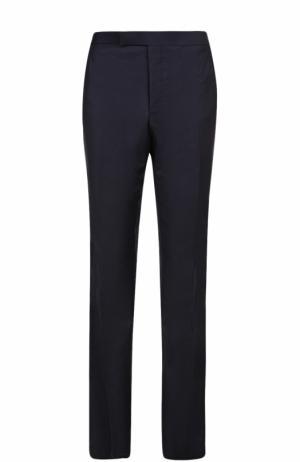 Шерстяные брюки прямого кроя Thom Browne. Цвет: темно-синий