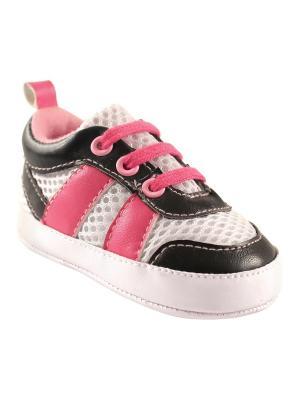 Пинетки Luvable Friends. Цвет: черный,розовый,белый