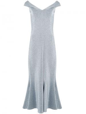 Платье с металлизированным эффектом Rosetta Getty. Цвет: металлический
