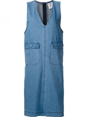 Sleeveless denim dress Steve J & Yoni P. Цвет: синий