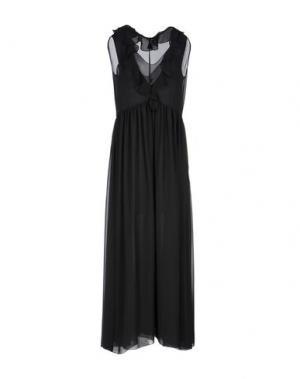 Длинное платье FABRIZIO LENZI. Цвет: черный