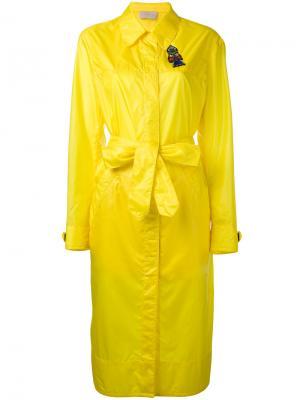 Удлиненный плащ Christopher Kane. Цвет: жёлтый и оранжевый