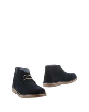 Полусапоги и высокие ботинки KENT. Цвет: синий