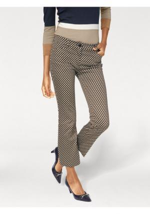 Моделирующие брюки ASHLEY BROOKE by Heine. Цвет: светло-коричневый/темно-синий