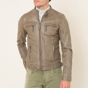 Куртка кожаная OAKWOOD. Цвет: каштановый