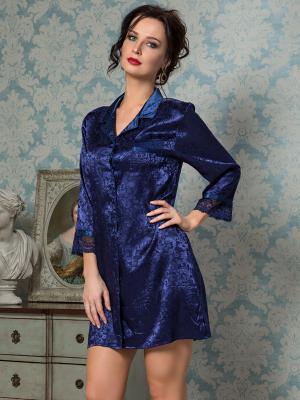Сорочка MIA-AMORE. Цвет: темно-синий