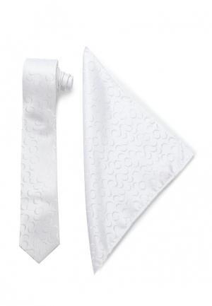 Комплект галстук и платок Carpenter. Цвет: белый