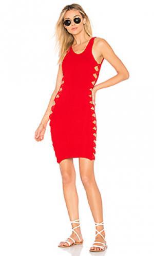 Платье-накидка wallis Hunza G. Цвет: красный