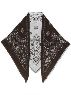 Жаккардовый платок Fefè. Цвет: коричневый