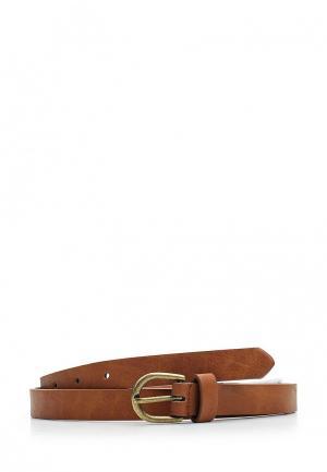 Ремень Pieces. Цвет: коричневый