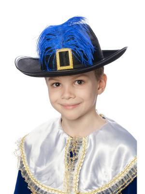 Карнавальная шляпа Мушкетер ФЕСТА. Цвет: черный