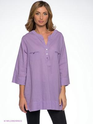 Блузка DRS Deerose. Цвет: сиреневый