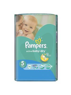 Подгузники Active Baby-Dry 11-18 кг, 5 размер, 16 шт. Pampers. Цвет: зеленый