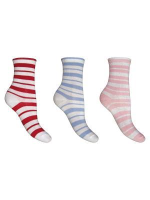 Носки, 3 пары Master Socks. Цвет: белый, красный