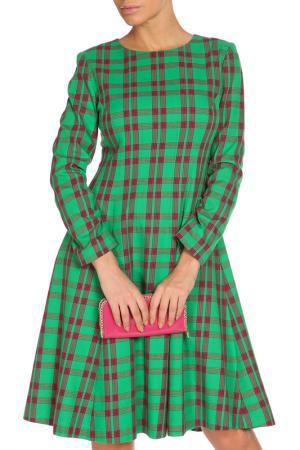Платье миди NATALIA PICARIELLO. Цвет: зеленый