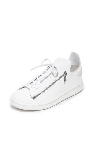 Кроссовки  Stan с молниями Y-3. Цвет: белый/кристально-белый
