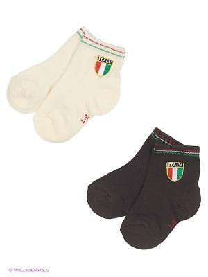 Носки, 2 пары ARTI. Цвет: белый, коричневый