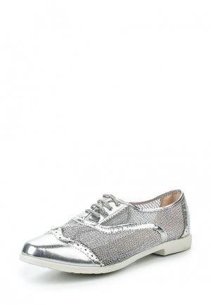 Ботинки Tom & Eva. Цвет: серебряный