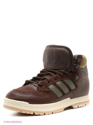 Ботинки CENTENNIAL Adidas. Цвет: коричневый, зеленый