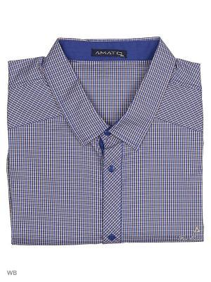 Рубашка AMATO. Цвет: фиолетовый, бежевый