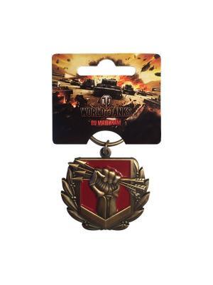 Брелок металлический Решающий вклад World of Tanks. Цвет: бронзовый