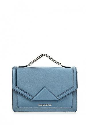 Сумка Karl Lagerfeld. Цвет: синий