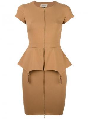 Платье Fold Murmur. Цвет: коричневый