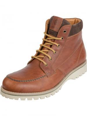 Ботинки PIRANHA. Цвет: коричневый