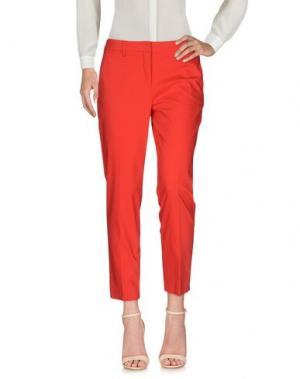 Повседневные брюки TWELVE-T. Цвет: красный