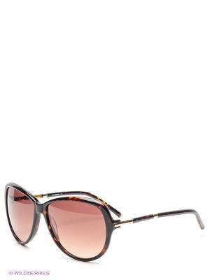 Солнцезащитные очки MOSCHINO. Цвет: коричневый