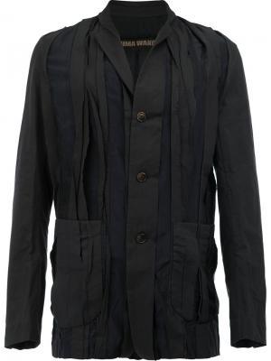 Куртка с плиссировкой спереди Uma Wang. Цвет: синий
