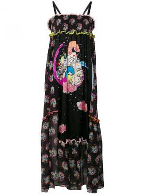 Платье с графическим принтом Tsumori Chisato. Цвет: чёрный