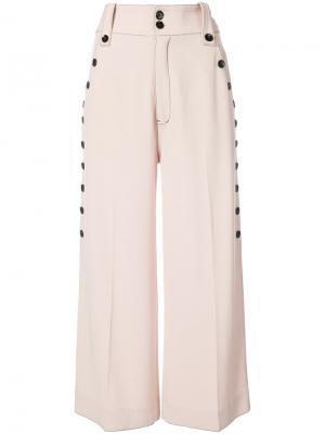 Широкие брюки с пуговицами сбоку Derek Lam 10 Crosby. Цвет: телесный