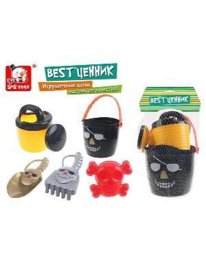 Формочка игрушечная S-S. Цвет: черный, желтый, красный