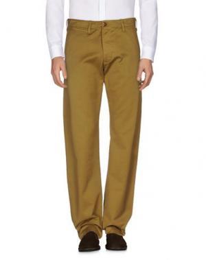 Повседневные брюки C.P. COMPANY. Цвет: охра