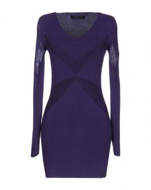 Короткое платье TENAX. Цвет: фиолетовый