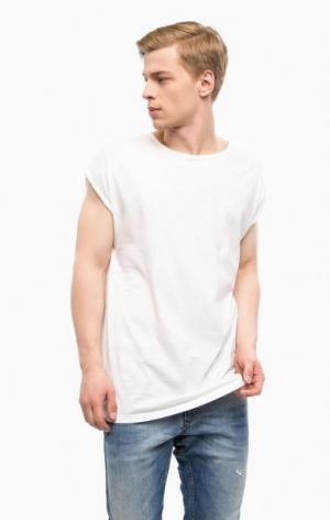 Белая хлопковая футболка с круглым вырезом DRYKORN. Цвет: белый