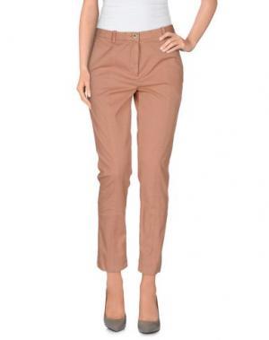 Повседневные брюки MALÌPARMI. Цвет: телесный
