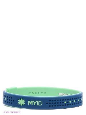 Браслет Endevr. Цвет: синий, зеленый